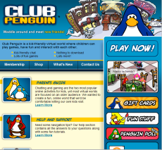 club penguin 2007 home screen