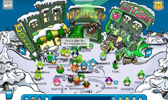 club penguin 2007 saint Patricks day party