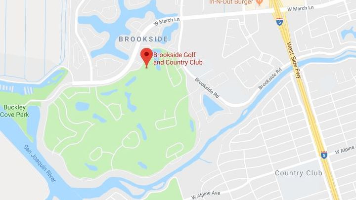 Map to Brookside Country Club