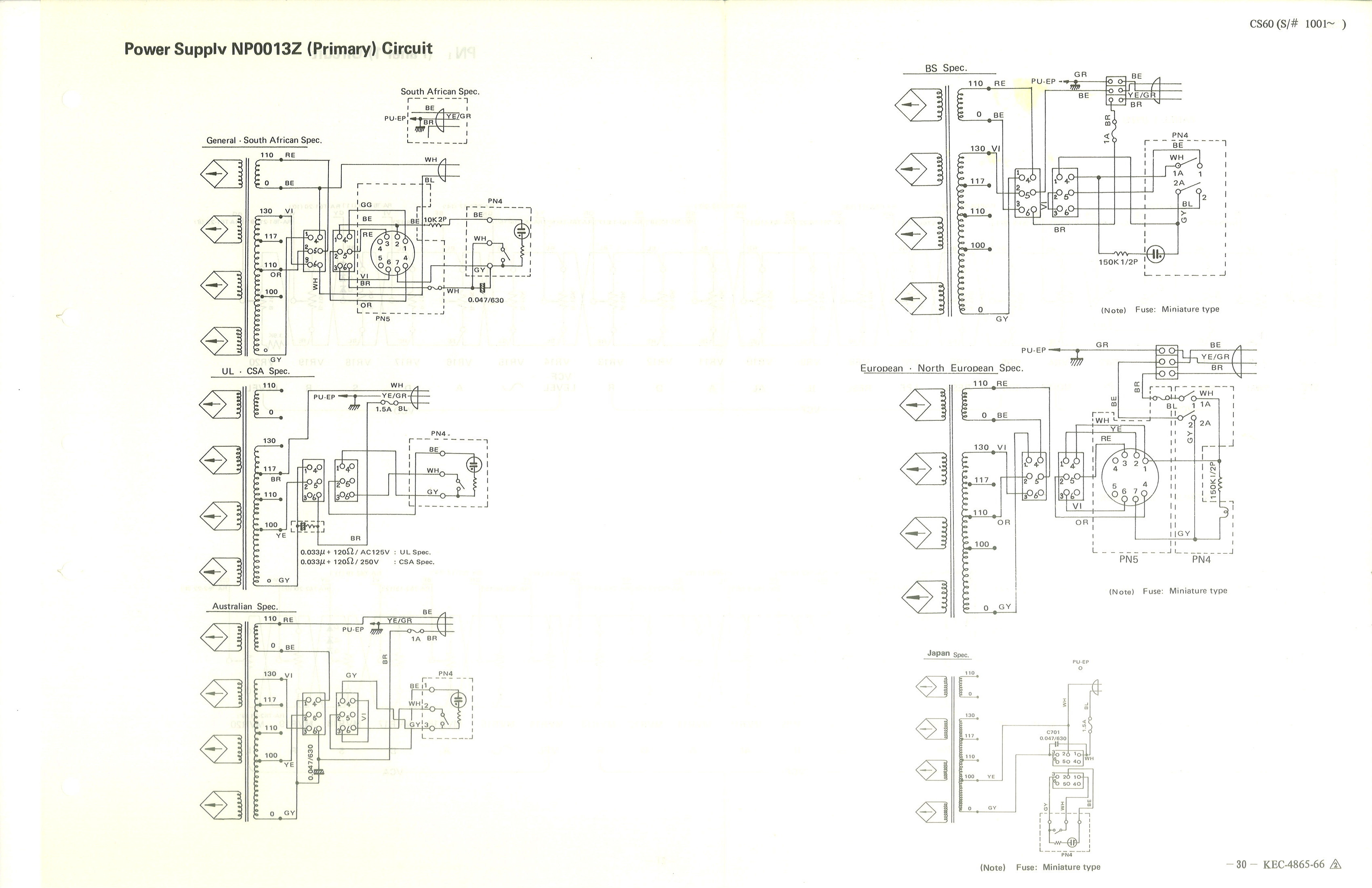 Yamaha CS-60 Service Manual