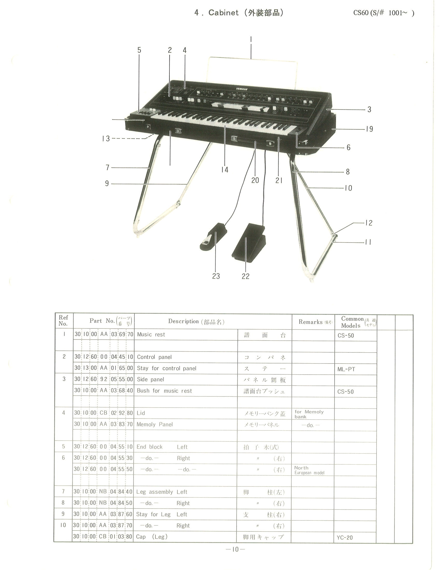 Yamaha Cs 60 Service Manual
