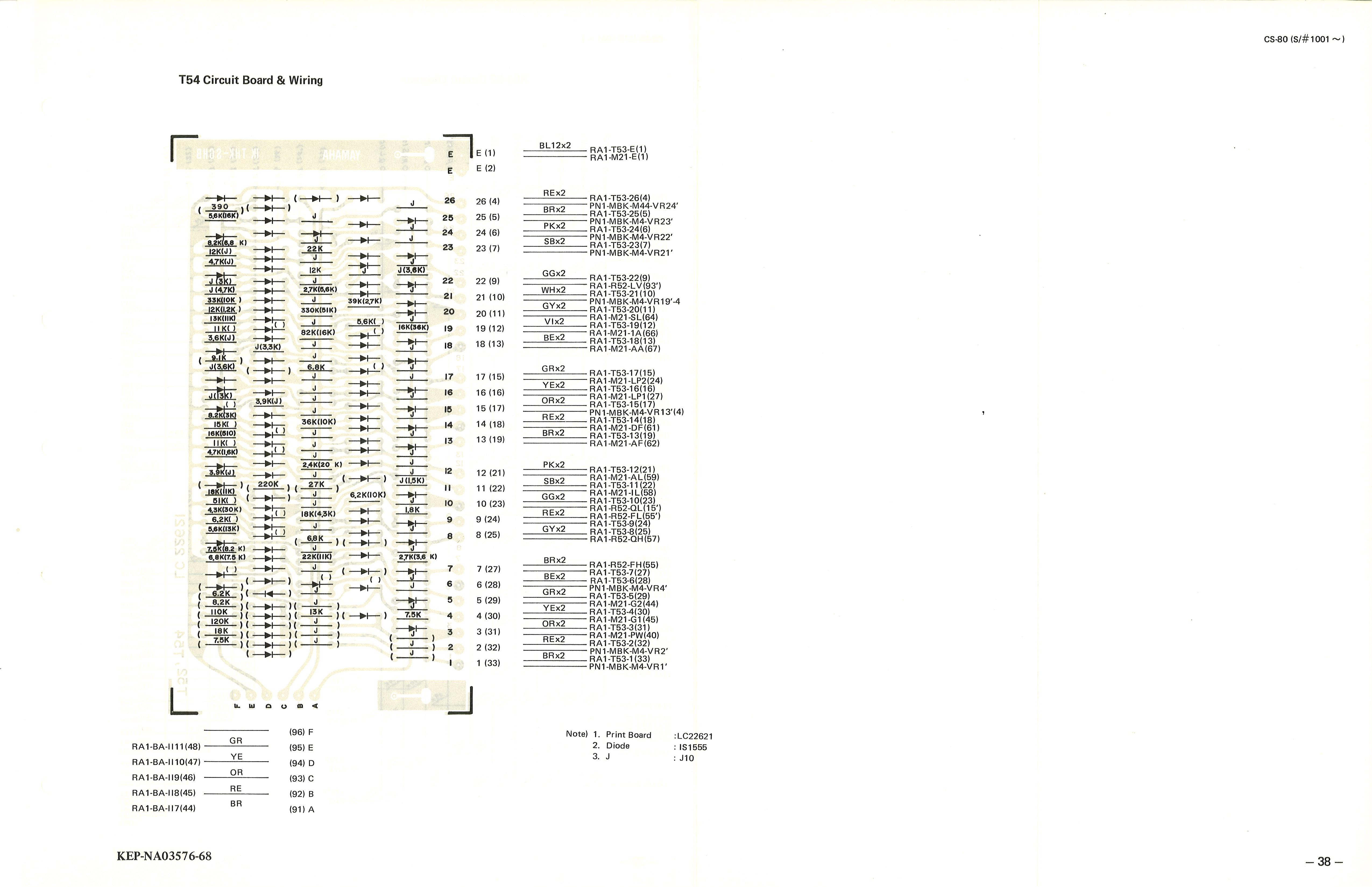 Yamaha Cs 80 Service Manual