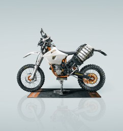 adventurizing the ktm 500 exc the rolling hobo luggage [ 1201 x 1368 Pixel ]