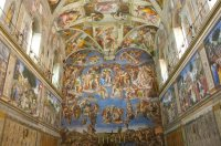 Michelangelo S Painting On The Ceiling Of Sistine Chapel ...
