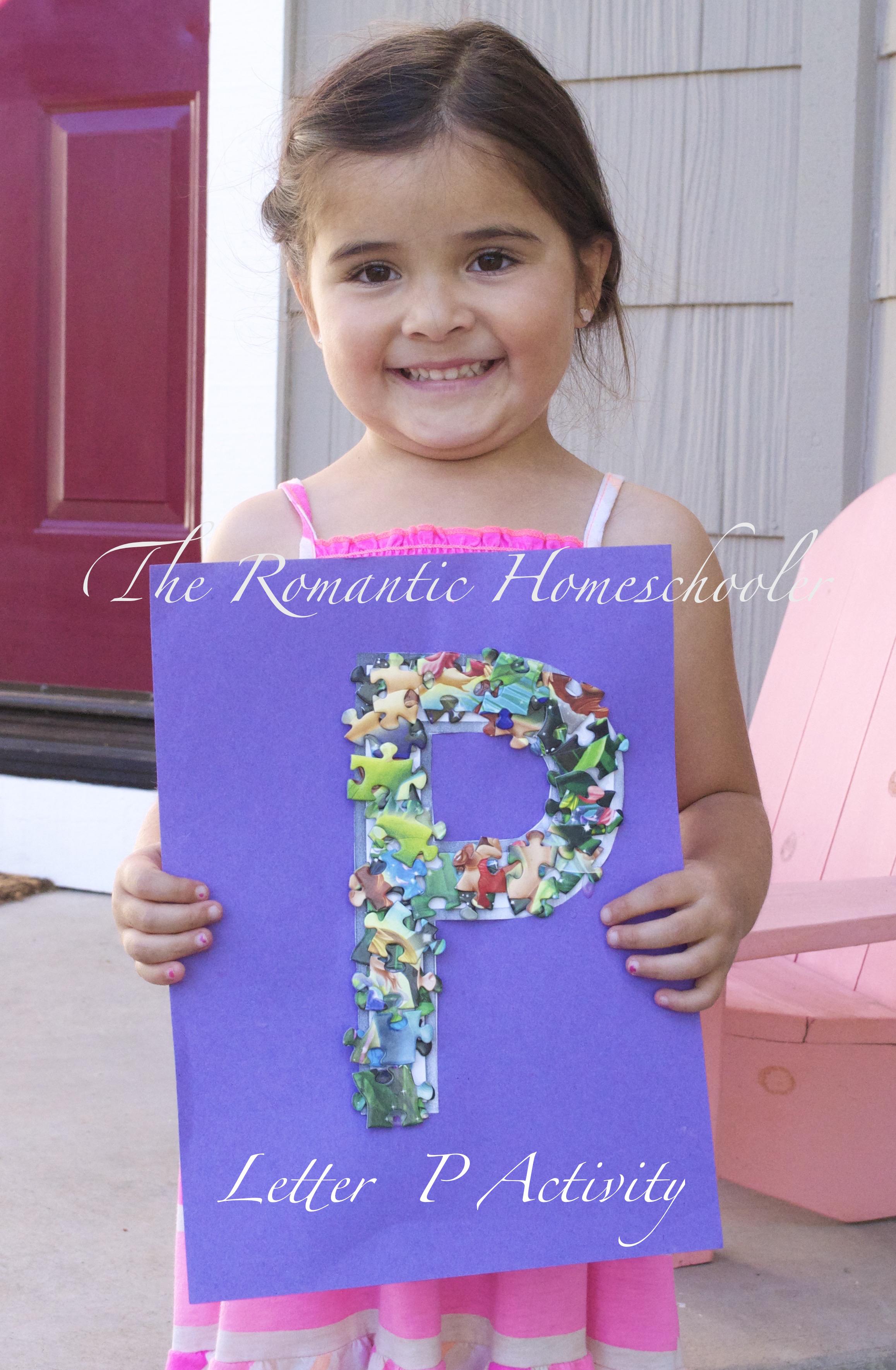 Letter P Activity For Preschoolers The Romantic Homeschooler
