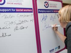 MPs sign pledge to support social workers