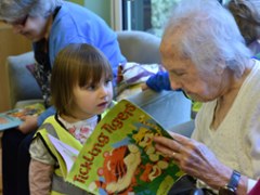 Intergenerational story time