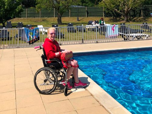 Life-saving role for wheelchair-user Helen