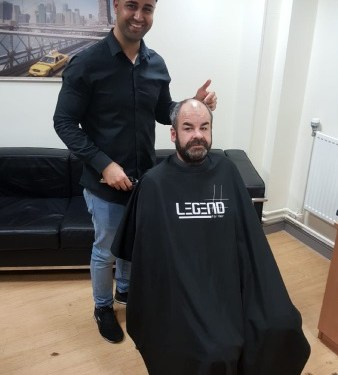 Barber's boosts men's mental health at homeless hostel