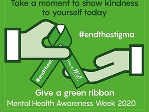 Green ribbon campaign marks start of mental health week