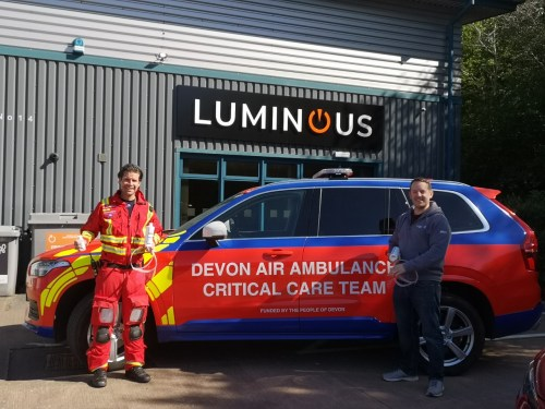 Special effects company supports Devon Air Ambulance