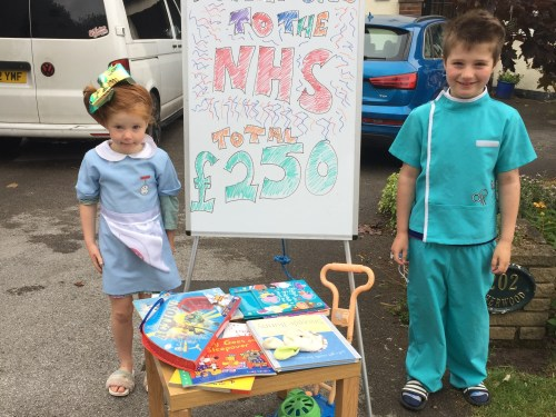 Brother and sister raise cash for NHS Heroes through pop up shop