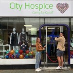 Welsh Rugby star opens City Hospice store in Rhiwbina