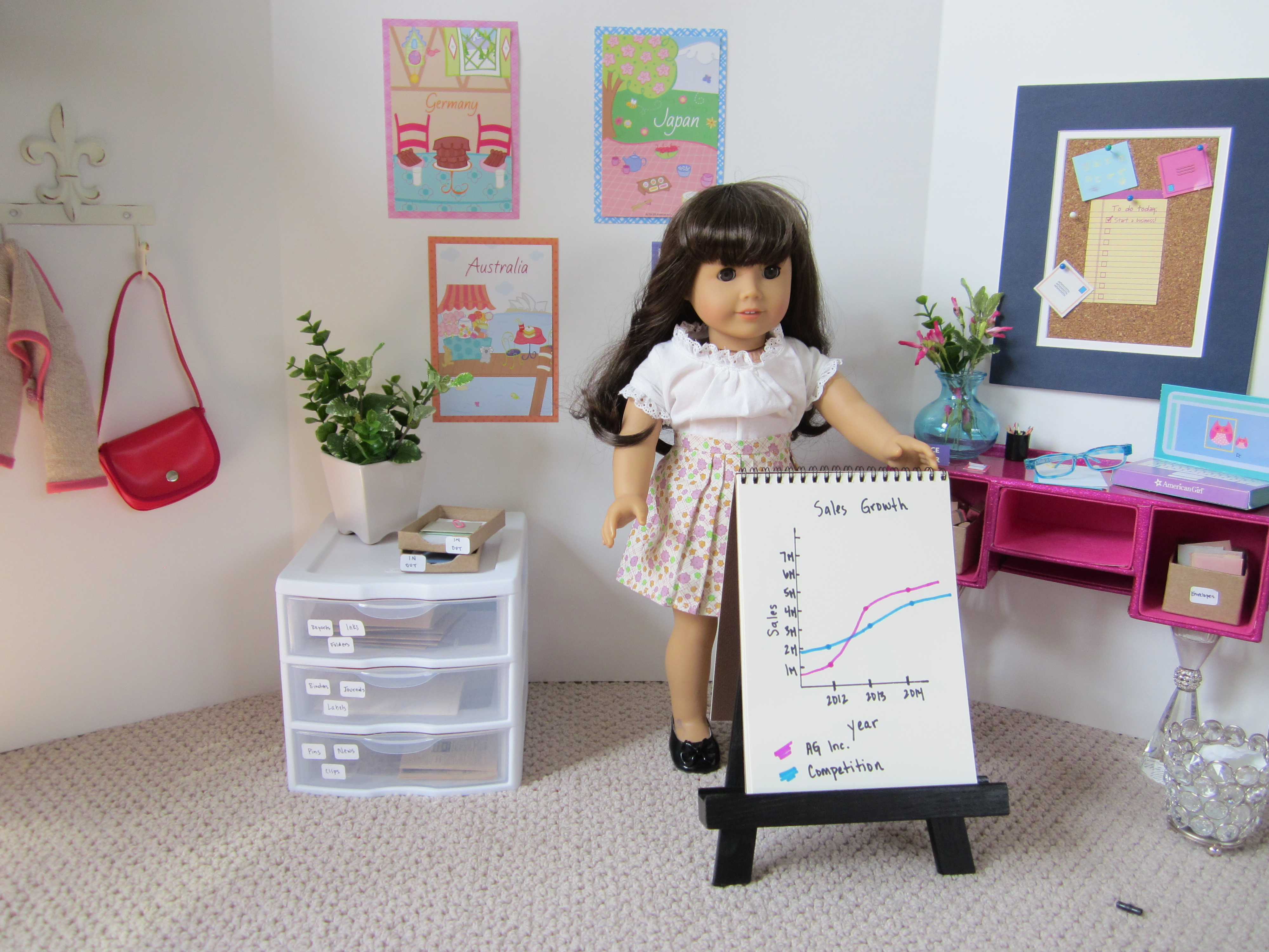 American Girl Goes To Work TheRoomMom