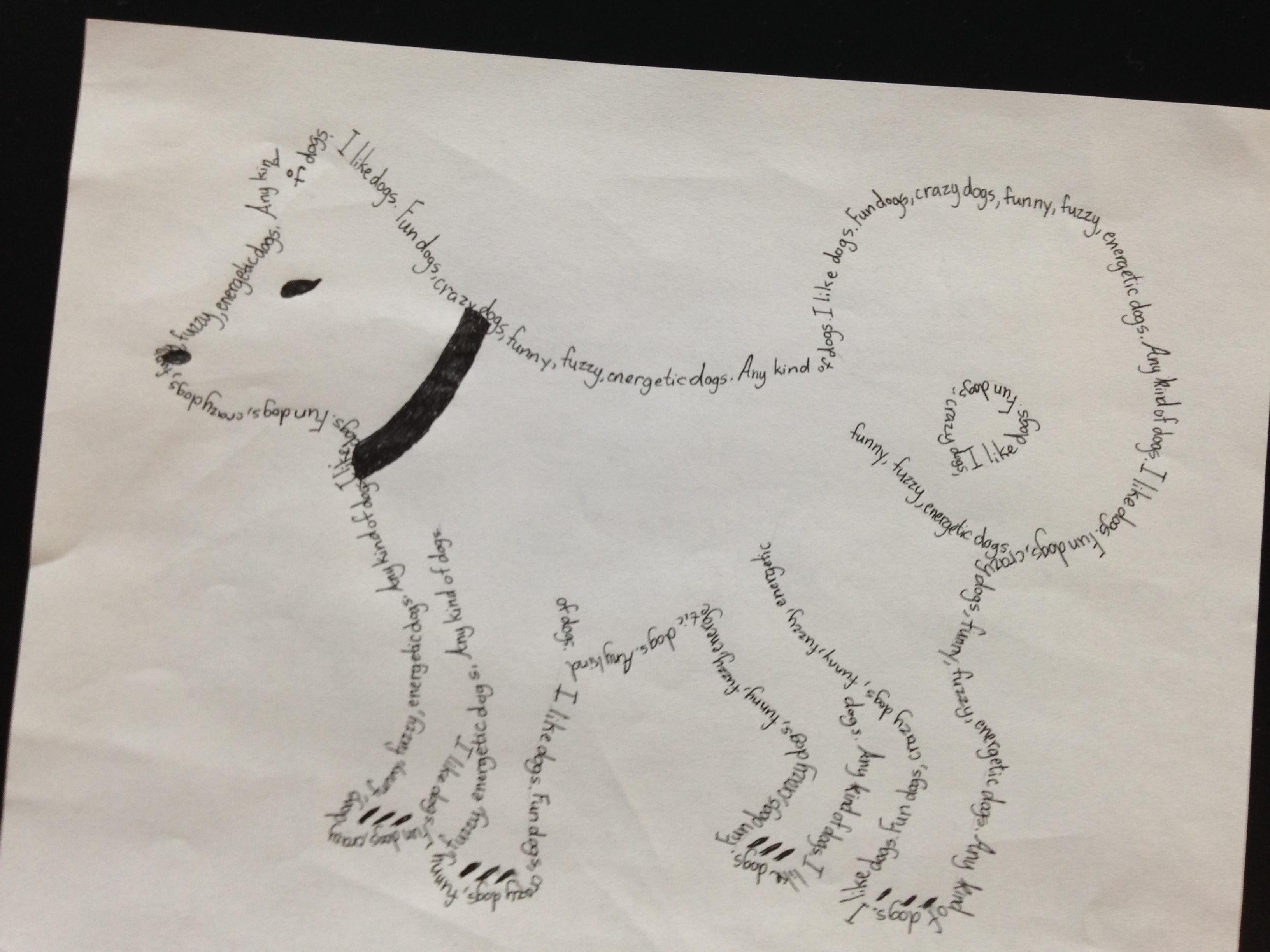 Concrete Poem Examples Middle School