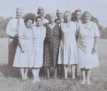 Back Row: L to R Charlie Camey Tom Will. Front Row: L to R: Bron Emma Great Aunt Lizzie Price Isabelle Lil