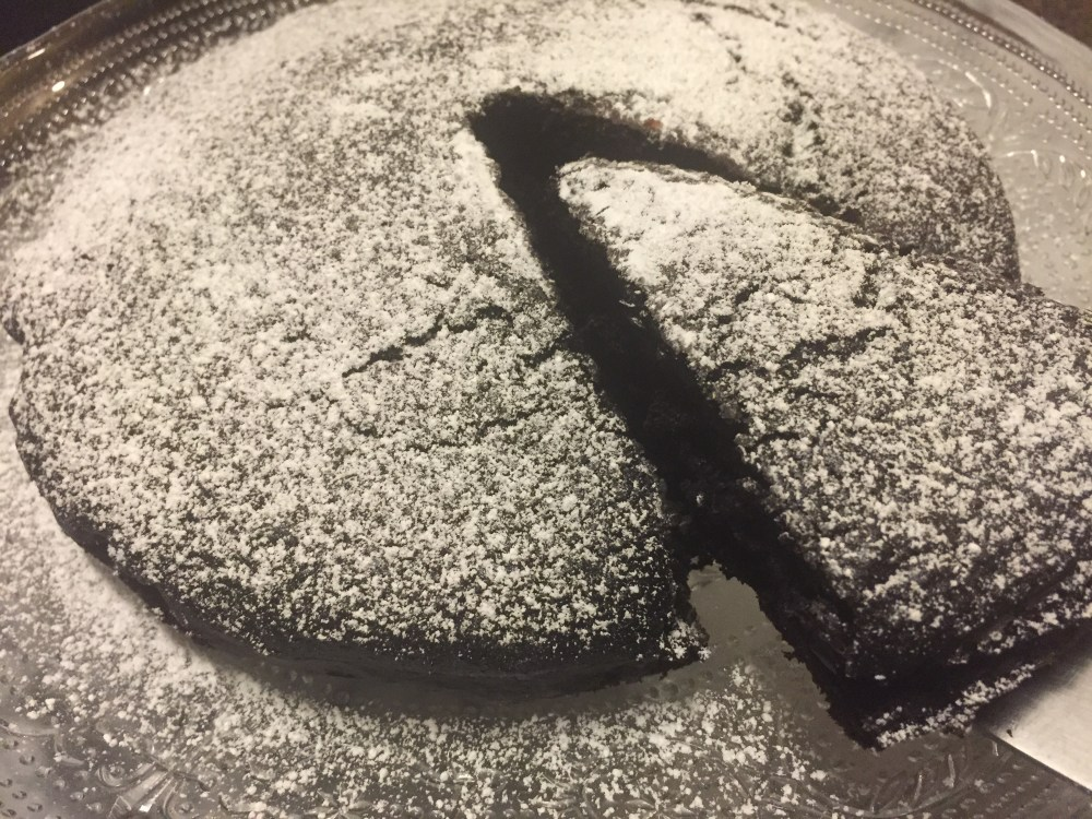 Blood Orange Olive Oil Chocolate Cake