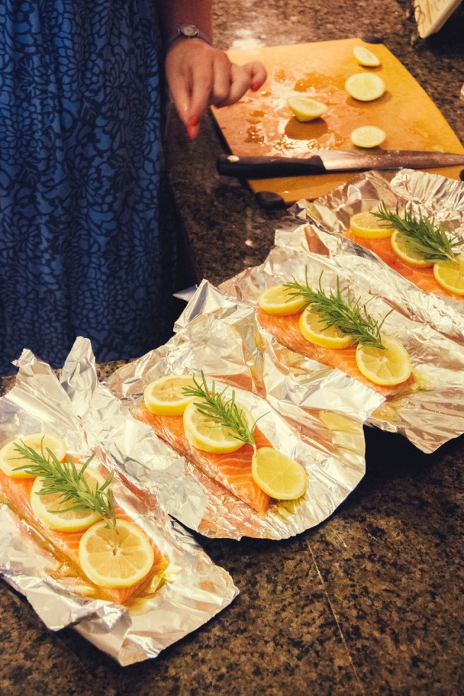 Grilled Salmon with Lemon and Rosemary | The Rose Table