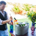 Danny serving wine | The Rose Table