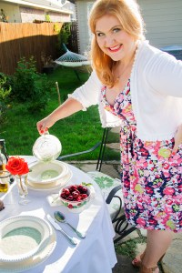 Chilled cucumber soup at a summer garden party | The Rose Table