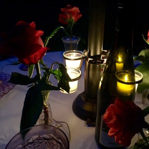 Conversation by candlelight   The Rose Table
