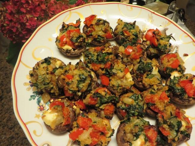 Mediterranean Stuffed Mushrooms | The Rose Table