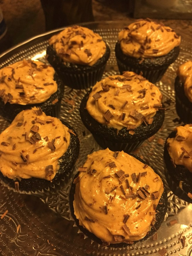 Dark Chocolate Cupcakes with Peanut-Almond Butter Frosting | The Rose Table