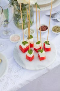 Watermelon Feta Skewer Appetizer   The Rose Table