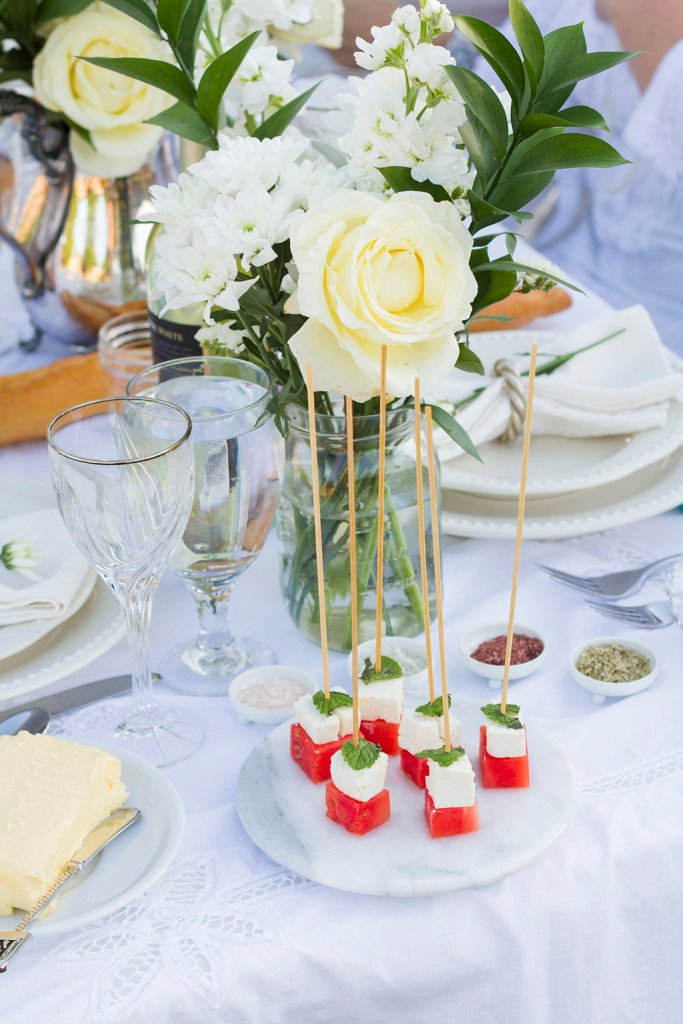 Watermelon Feta Skewer Appetizer | The Rose Table