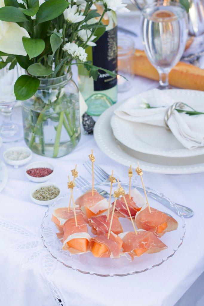Prosciutto Wrapped Cantaloupe | The Rose Table
