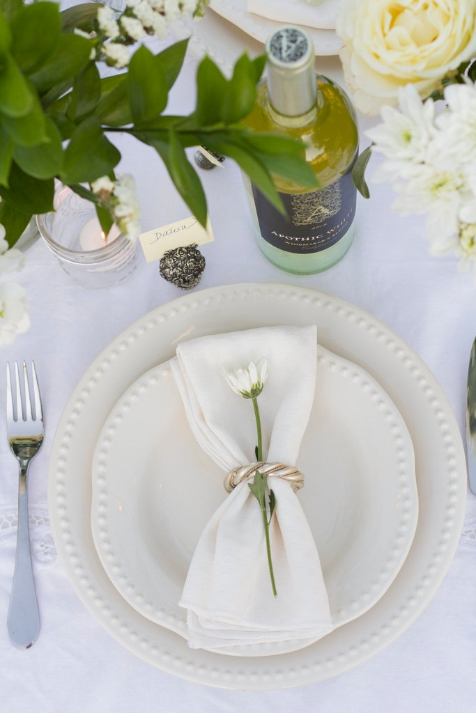 Diner en Blanc Place Setting Table Decor | The Rose Table