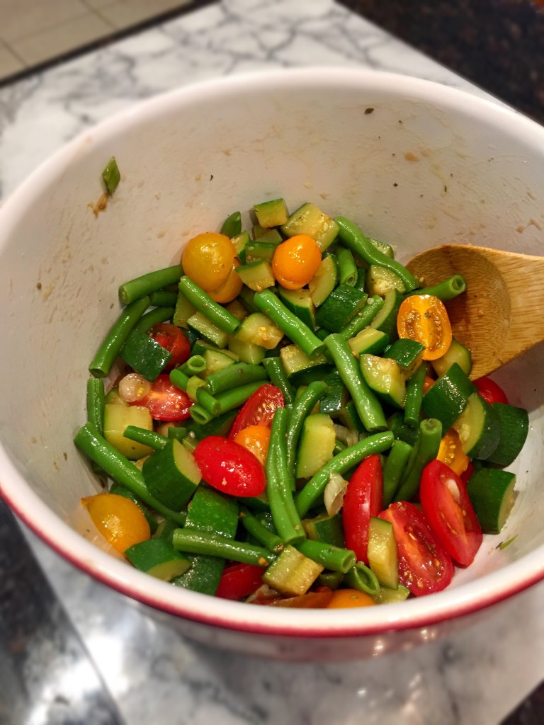 Simple Summer Veggie Salad | The Rose Table