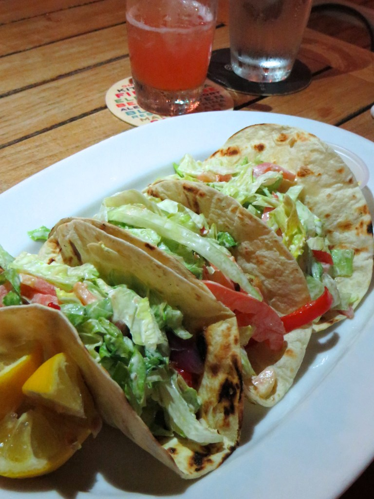 Fish Tacos at Salt Bar and Grill at Blue Haven Resort   The Rose Table