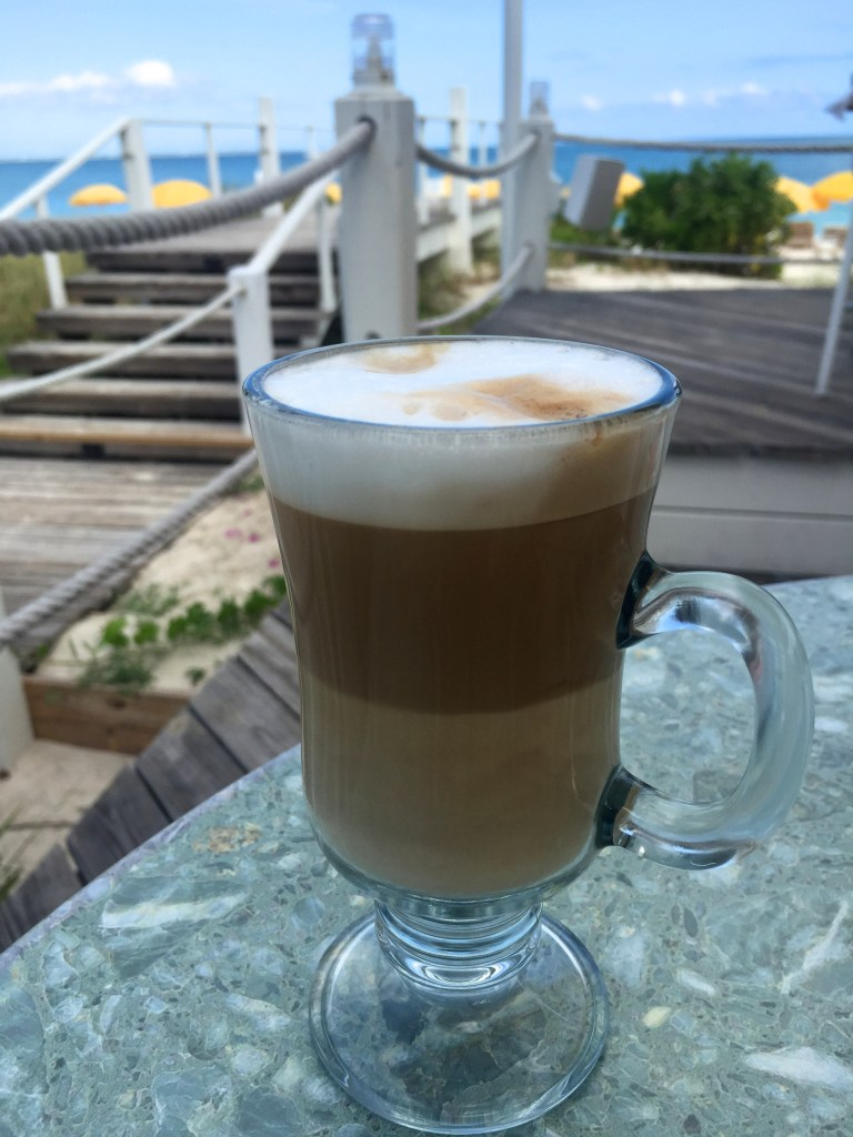 Cappuccino at Alexandra Resort's Asu on the Beach   The Rose Table