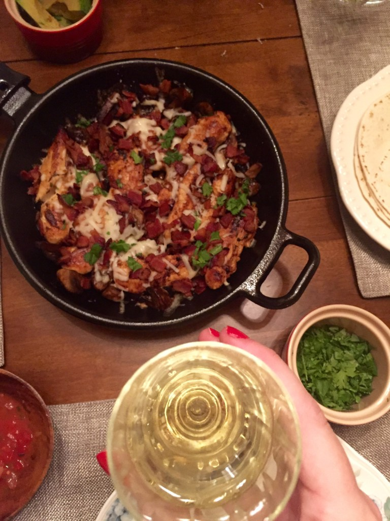Chicken, Mushroom, and Bacon Fajitas | The Rose Table