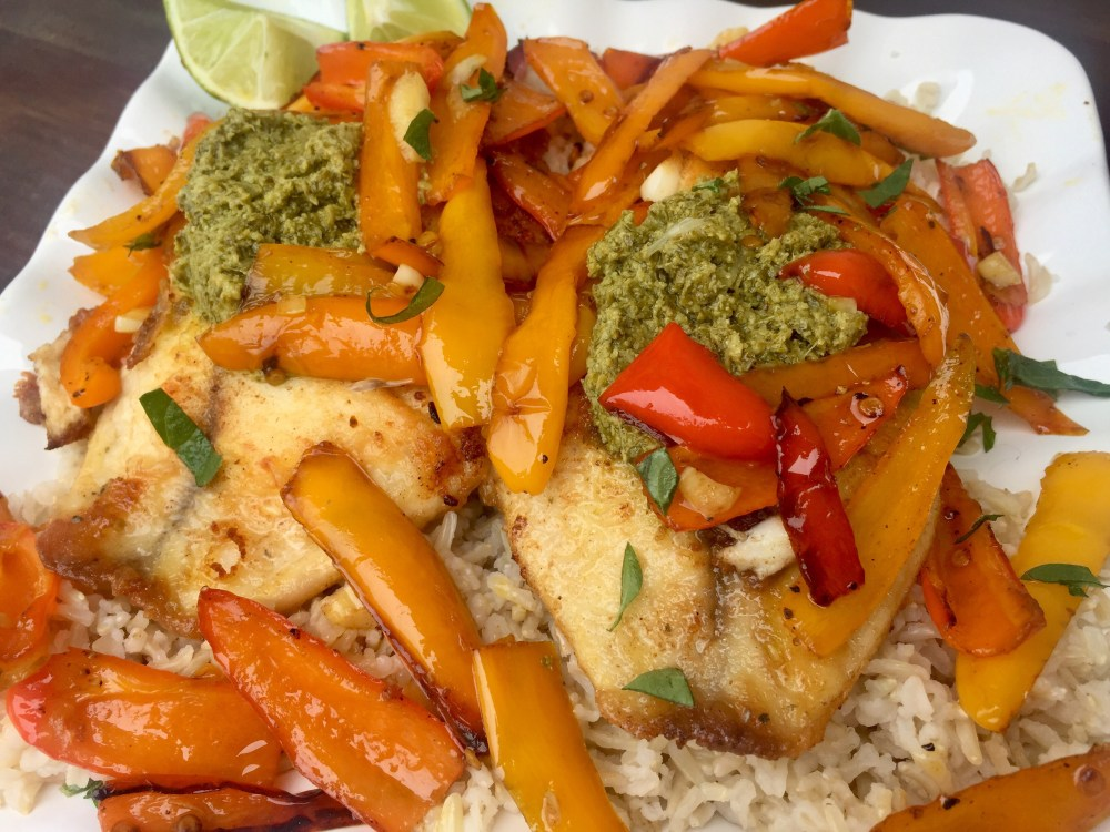 Bell Pepper Tilapia with Amira Basmati Rice | The Rose Table