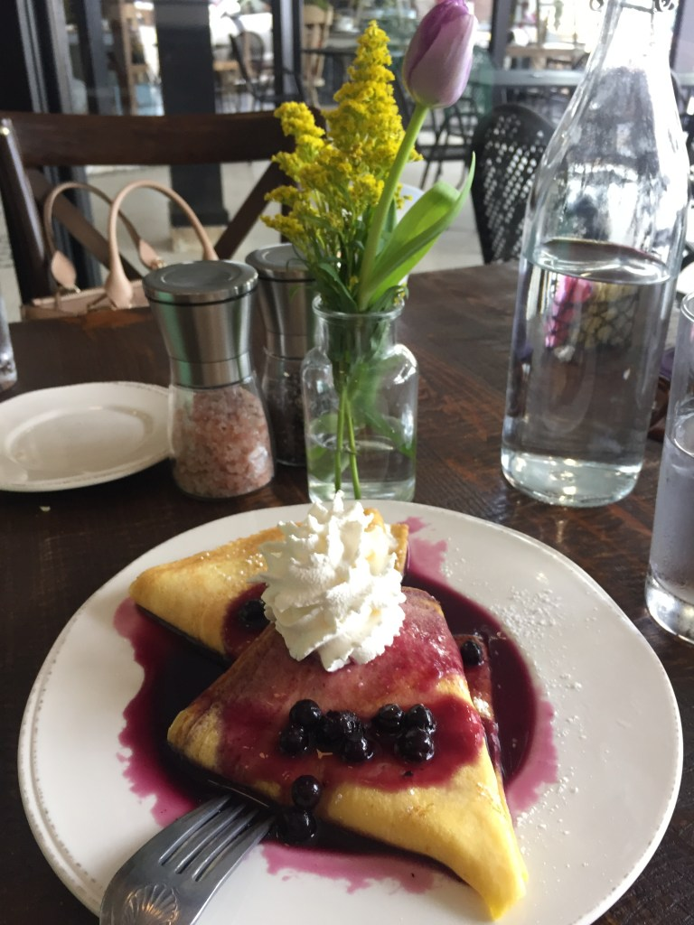 Lemon Blueberry Crepe | The Rose Table