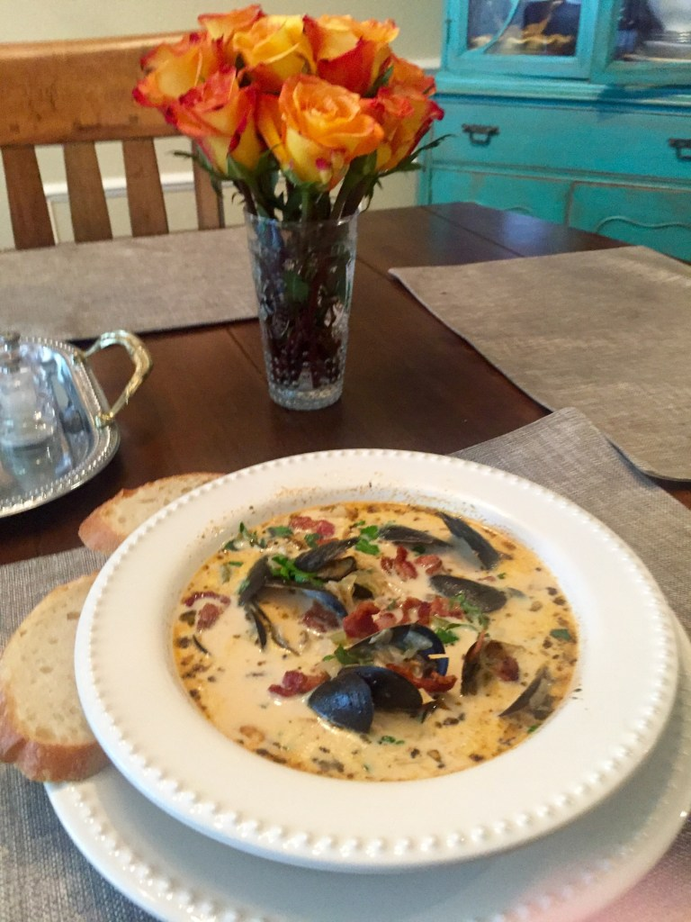Seafood Chowder with Mussels | The Rose Table