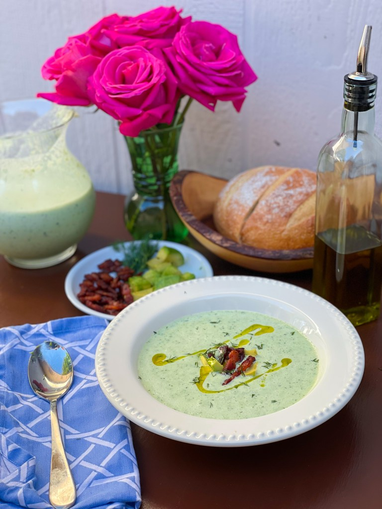 The Rose Table's Chilled Cucumber Soup | Summer Dinner Party Recipe