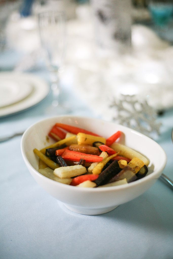 Rainbow Roasted Carrots Recipe | The Rose Table, Frozen recipes, adult Frozen dinner party