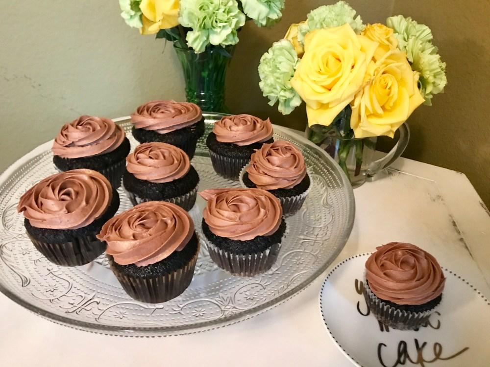 Dark Chocolate Nutella Cupcakes   The Rose Table