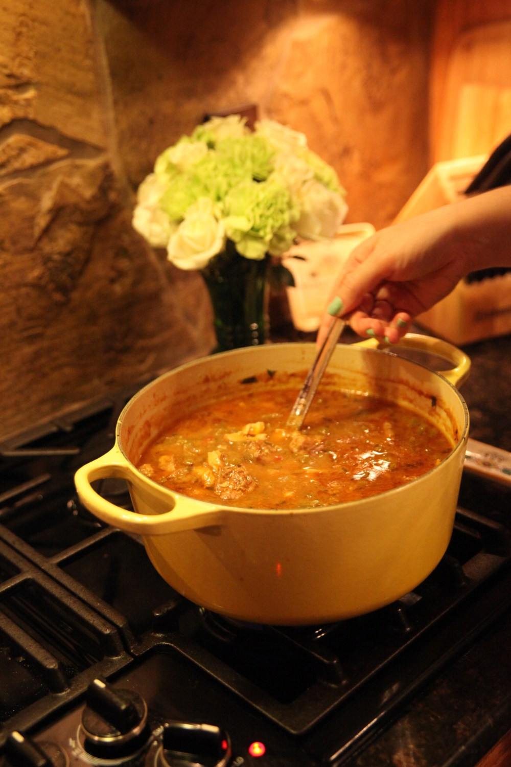 The Rose Table's Chicken and Sausage Gumbo