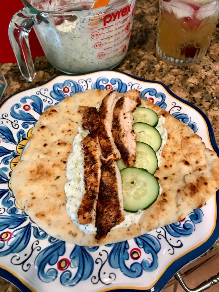 How to make a Chicken Gyro with Tzatziki Sauce | The Rose Table