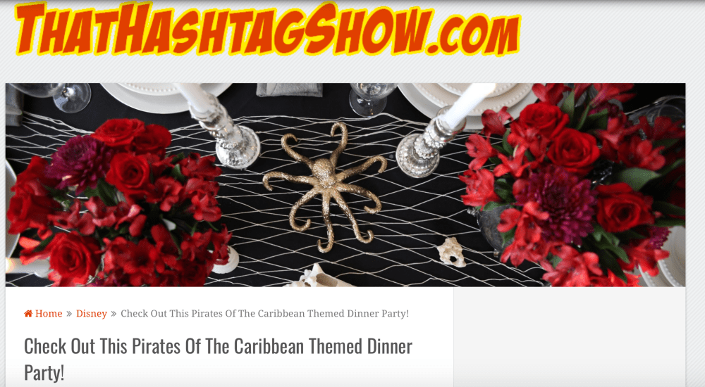pirates of the caribbean dinner party