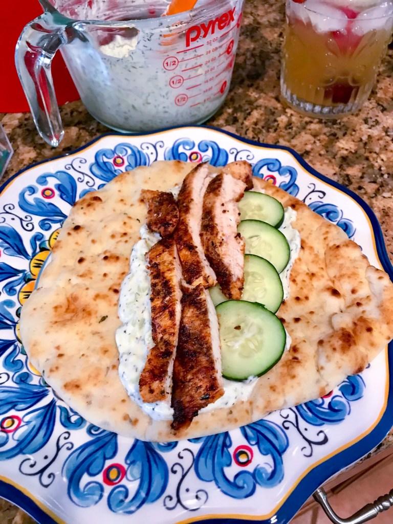 Chicken Gyro with Tzatziki Sauce