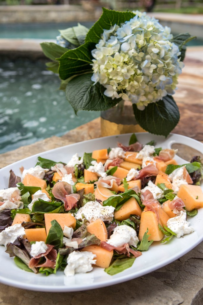 Prosciutto Cantaloupe Burrata Salad | The Rose Table