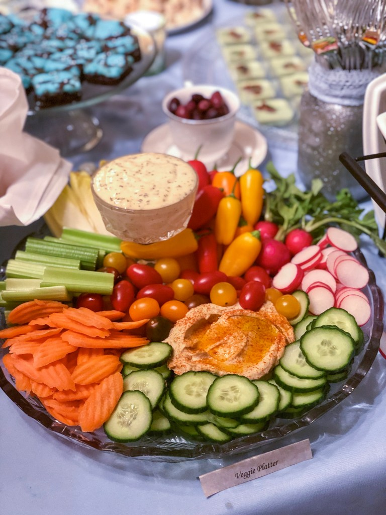 Veggie Platter for a Party | The Rose Table