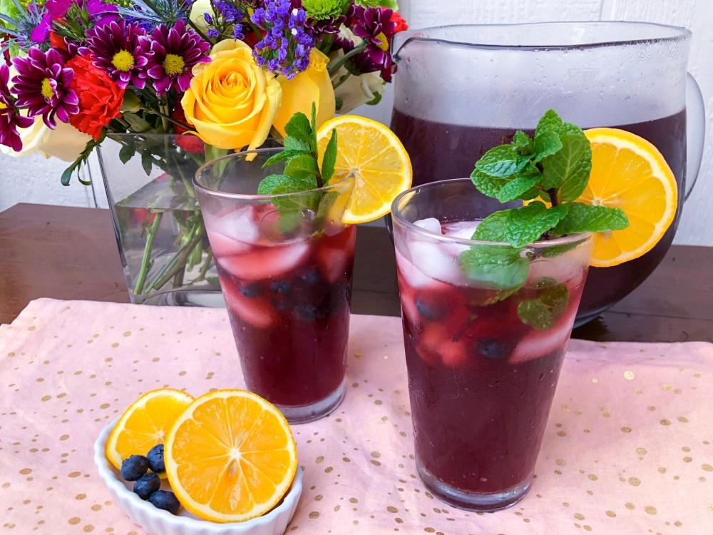 Lemon Blueberry Mint Iced Tea, Best Iced Tea Recipes | The Rose Table
