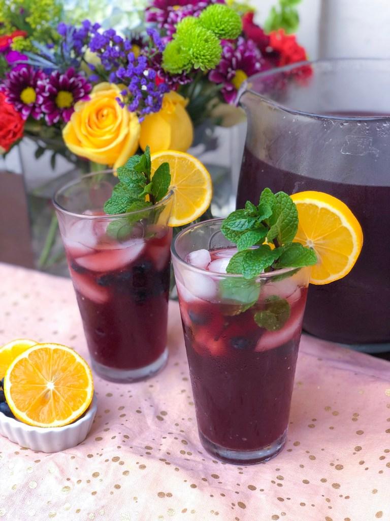 Lemon Blueberry Mint Iced Tea, Best Iced Tea Recipes   The Rose Table