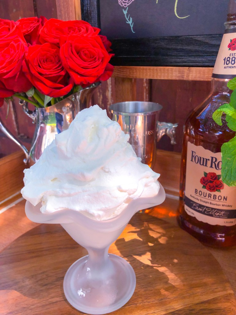 Bourbon Whipped Cream, Kentucky Derby Recipes | The Rose Table